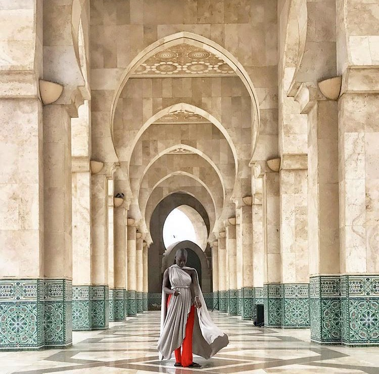 June, 2017 at the Hassan II Mosque in Casablanca, Morocco.