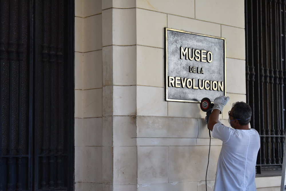 The Museo de La Revolucion in Havana, Cuba getting a facelift