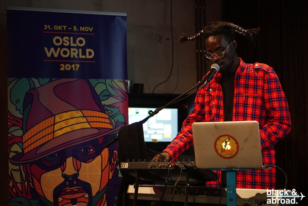 Ibaaku, a dj from Senegal performing during the Afro-futurism portion of the festival.
