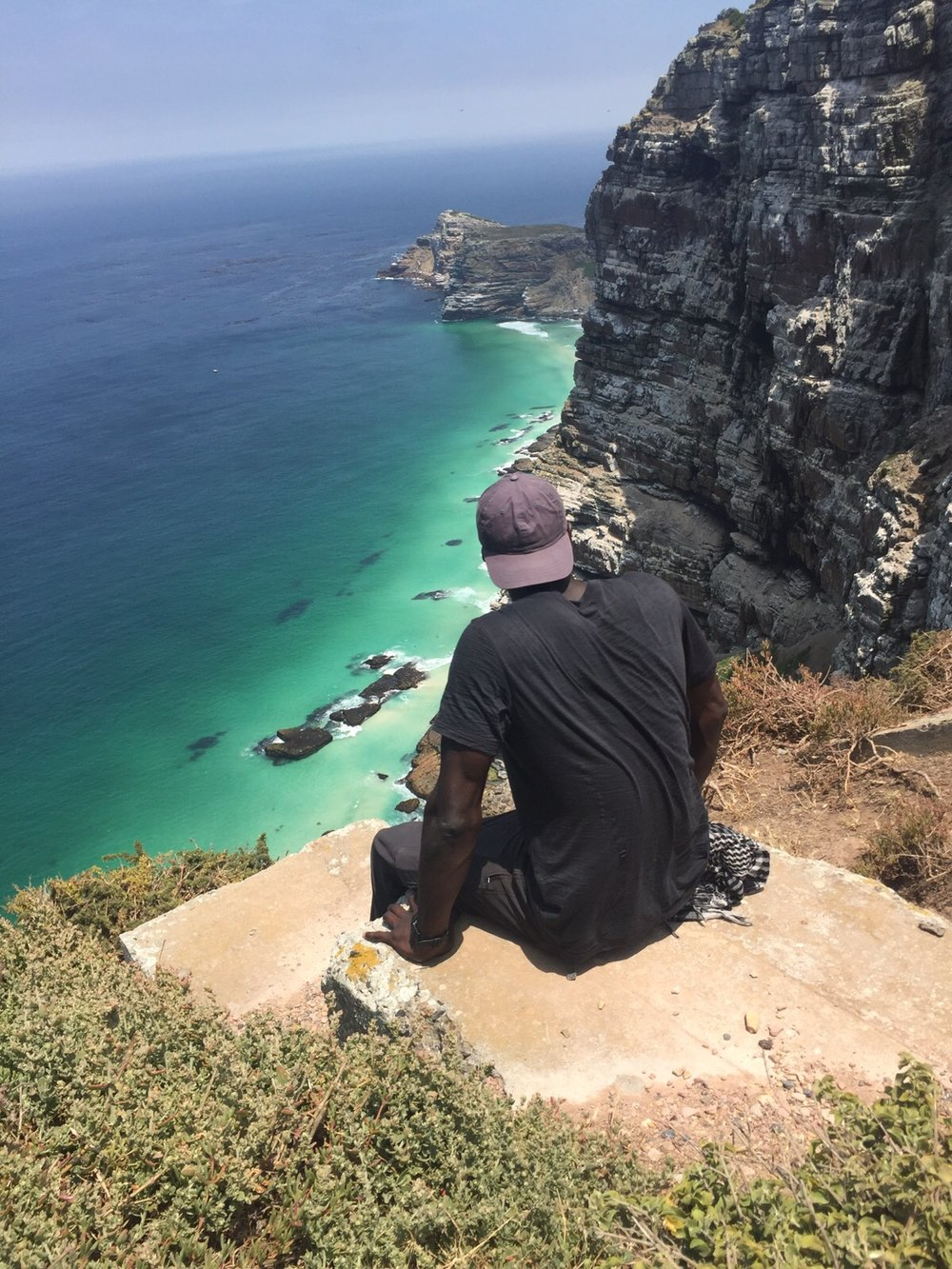 Overlooking Cape Point in S. Africa.