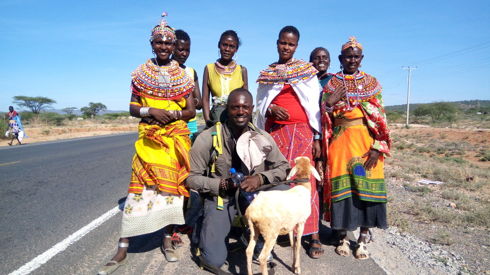 Samburu tribe women who Mario met in Kenya.