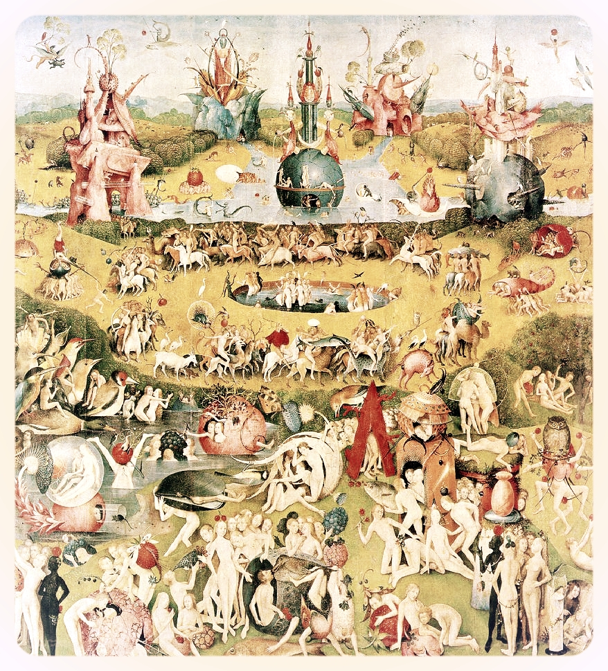 One panel of The Garden of Earthly Delights, by Hieronymus Bosch