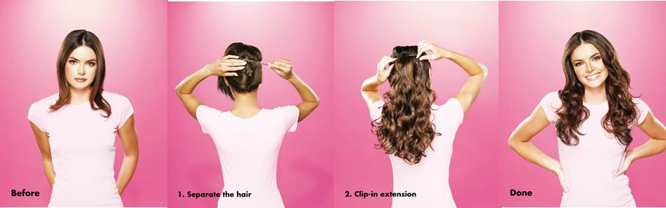 Diy custom kit this my hair virgin indian 100 human hair extensions diy clip in kit solutioingenieria Image collections