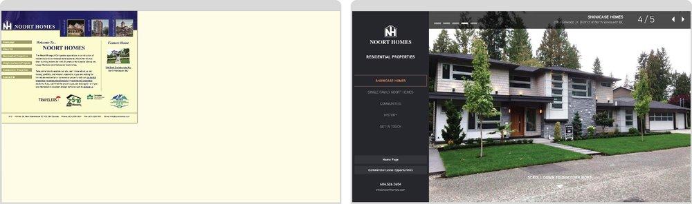 Original Website (left)