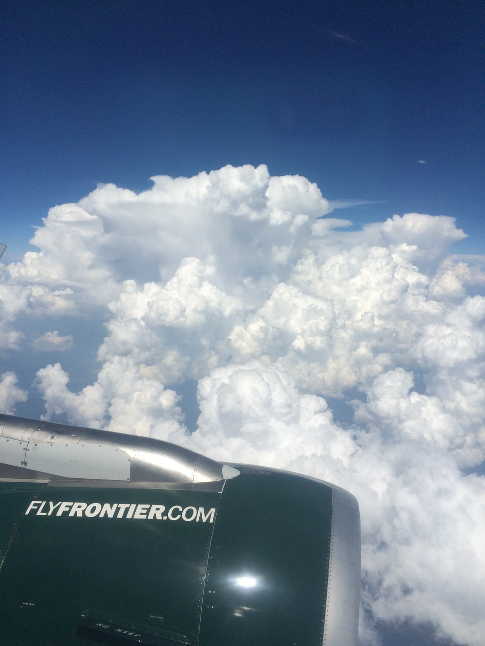 Crazy thunderheads from the air