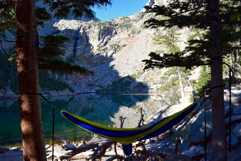 It's hard to beat this as far as hammocking spots go