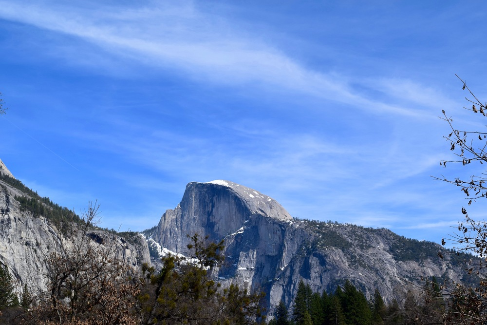 Half Dome is one of the coolest mountains ever, I felt like I needed to take a picture of it every time I saw it! (this particular one is on the walk back to the car after Yosemite Falls)