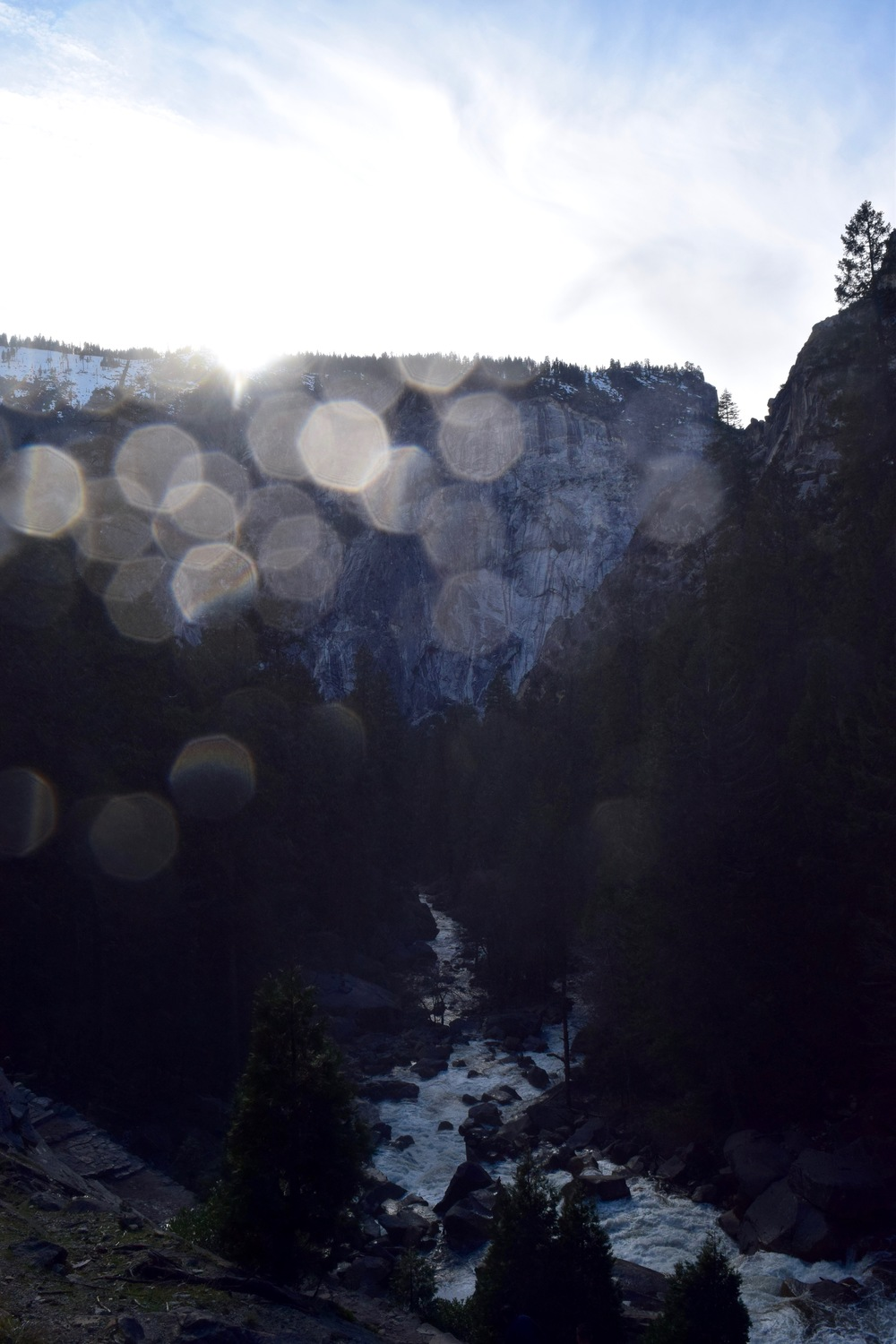 So much spray from the waterfall - the second I took my lens cap off, it would get sprayed and turn everything into bokeh
