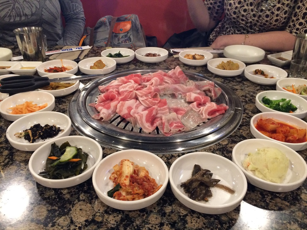 Korean barbecue before A Midsummer Night's Dream with friends from school. AKA the BEST food I've had in a LONG time.