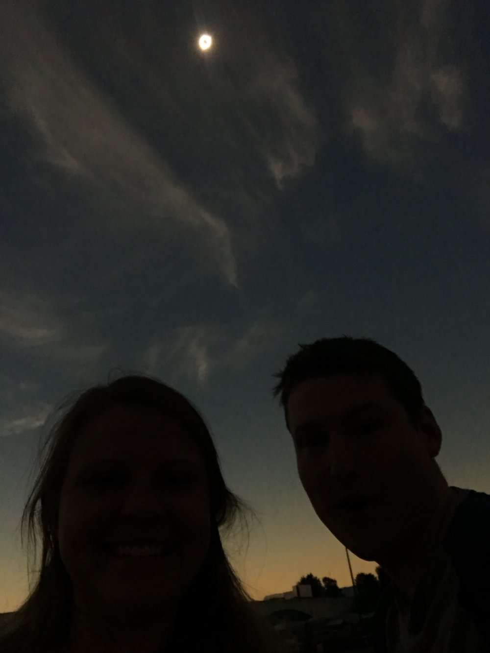 Cell phone pic during totality!
