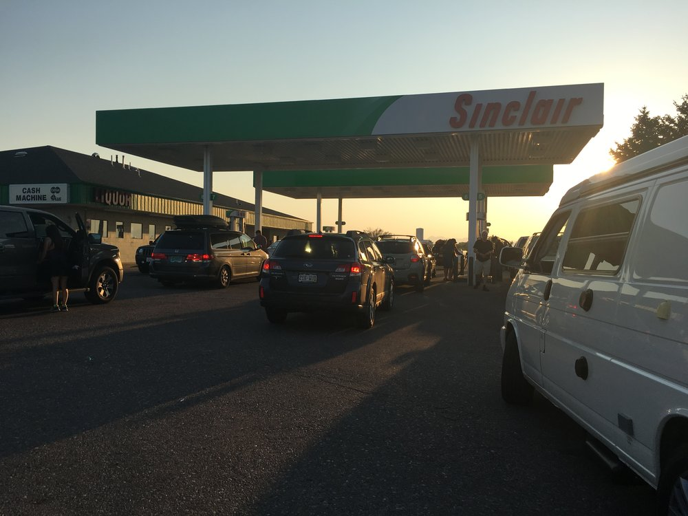 Insane line to get gas - AND was sold out of regular and mid grade gas.