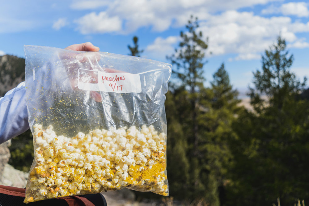 Is there a better hiking snack than popcorn?