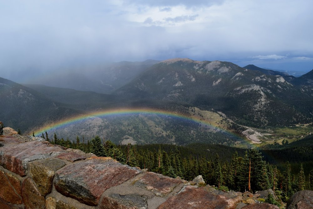 Double rainbow at the Rainbow Curve Overlook