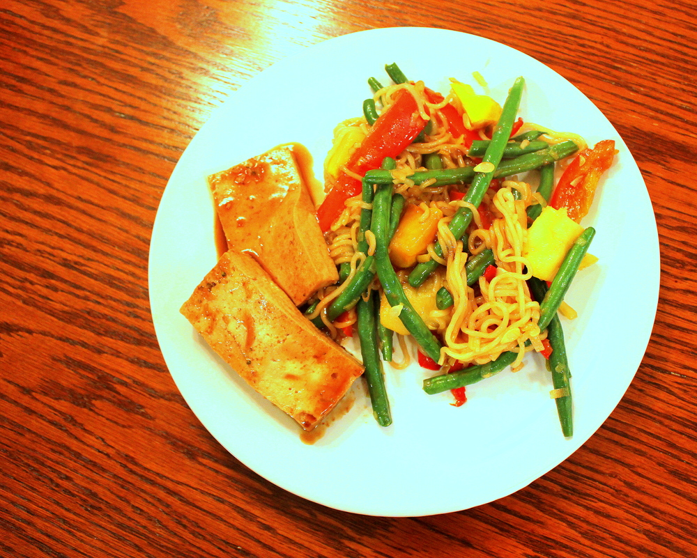 Teriyaki Tofu with Stir-Fry Vegetables from Peas and Hoppiness