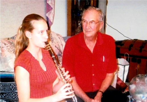 Grandpa listening to me play the clarinet, circa 2004. I couldn't ask for a better family.