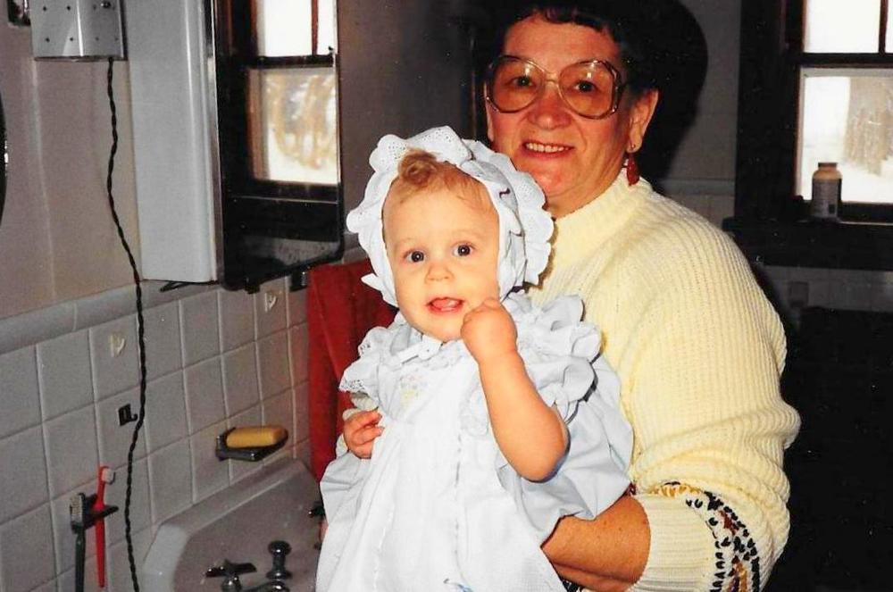 Baby Ann with Grandma Scheufler