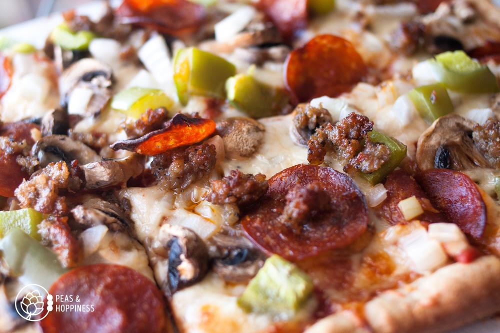 Fresh, hot, delicious. I love pizza!