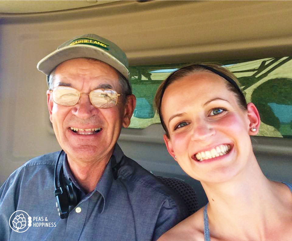 Dad, Lee Scheufler, and me in the cab of the combine during wheat harvest 2014. Happy Father's Day, Dad!
