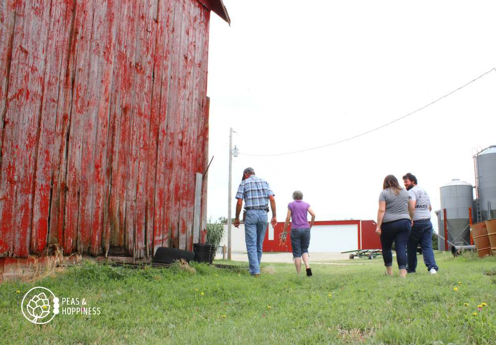 Farm tours with the family, tromping through the wet grass