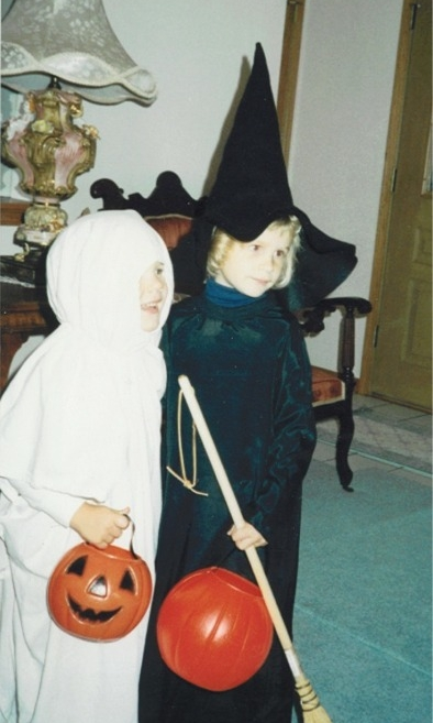 Adorable little brother Ray and I as ghost and witch
