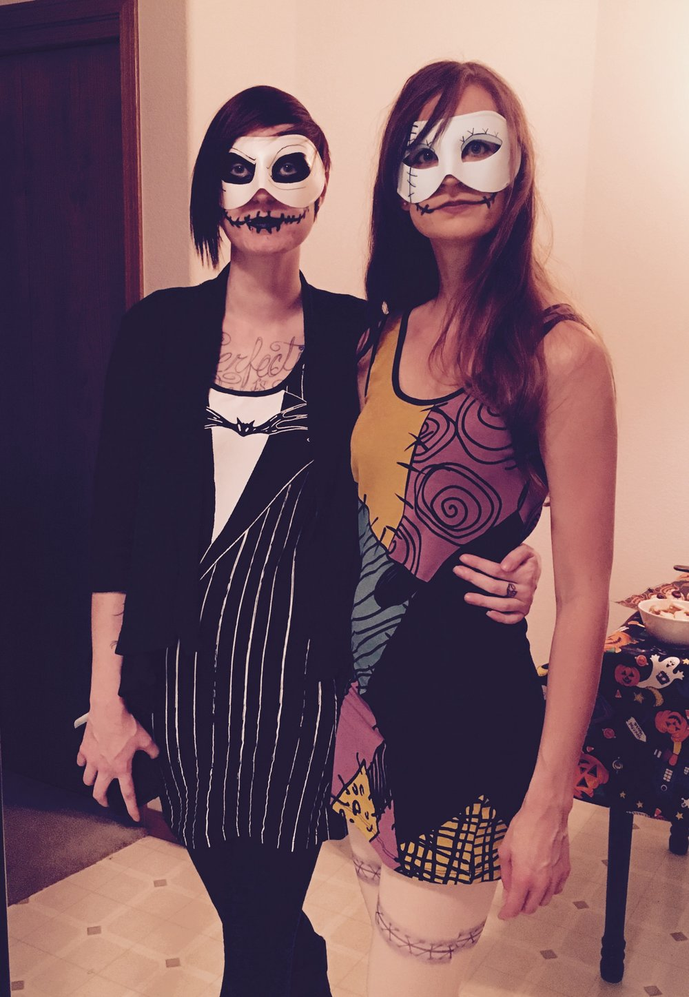Leanna and me as Jack and Sally from  The Nightmare Before Christmas