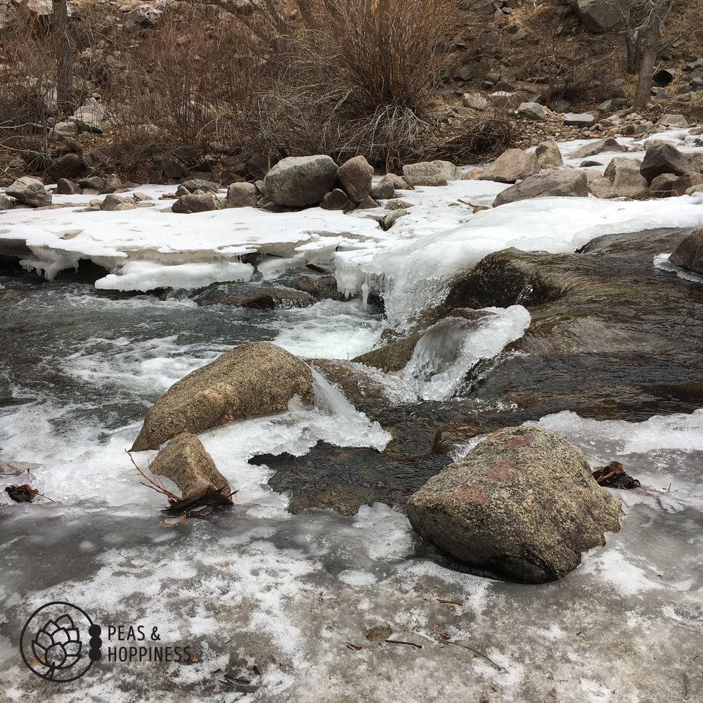 Views along the winter hike