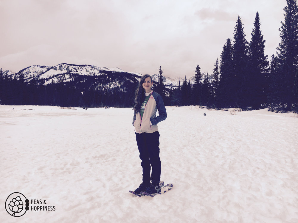 Snowshoeing with good people. Life doesn't get any better than this.
