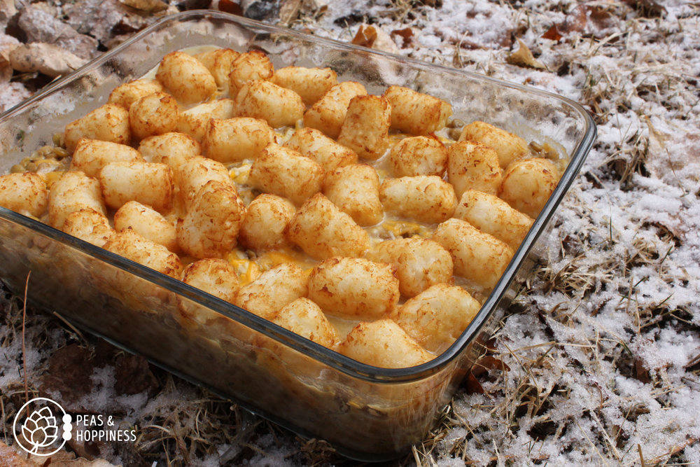 Lentil Tater Tot Casserole from Peas and Hoppiness - www.peasandhoppiness.com