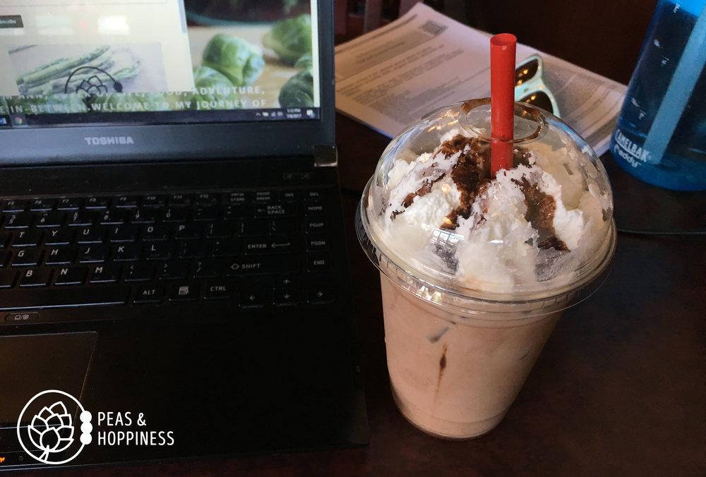 "It's sugar-free, but not fat-free. I thoroughly enjoyed replenishing the calories I burned during my morning run with this ""Heath Bar"" iced coffee. Yum!"