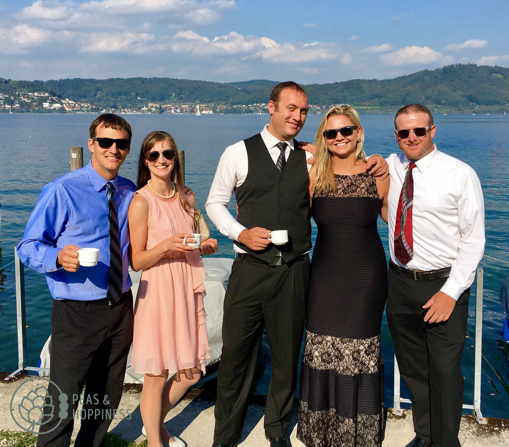 Jeremy & the Struggle Bus - the Colorado friends at Brian and Sandra's German wedding!