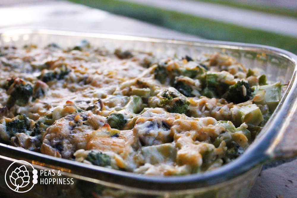 Eating gluten-free can still be delicious! Above is gluten-free  All-Natural Broccoli Rice Casserole . Click link for the recipe!