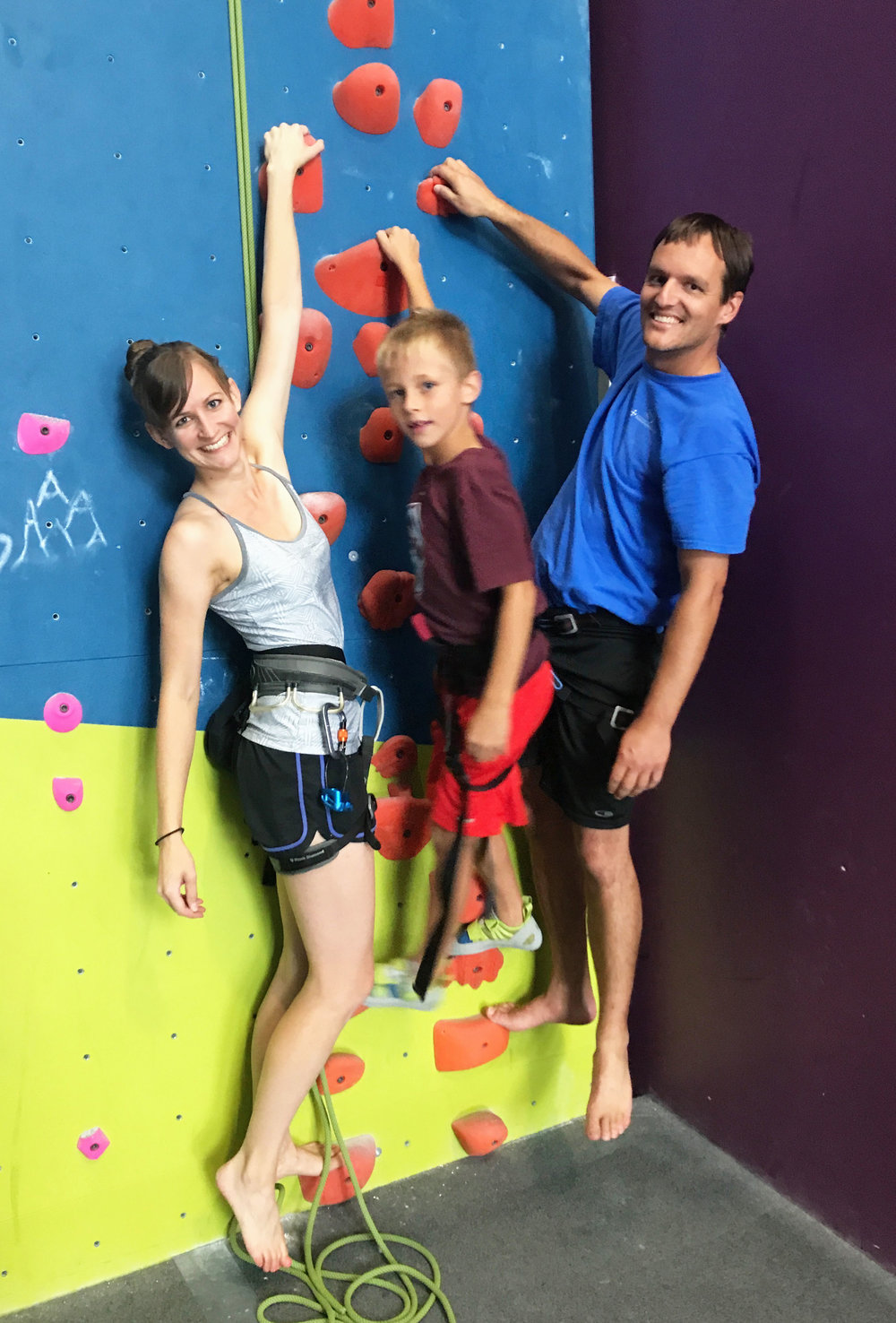 Rock climbing with my favorite guys <3