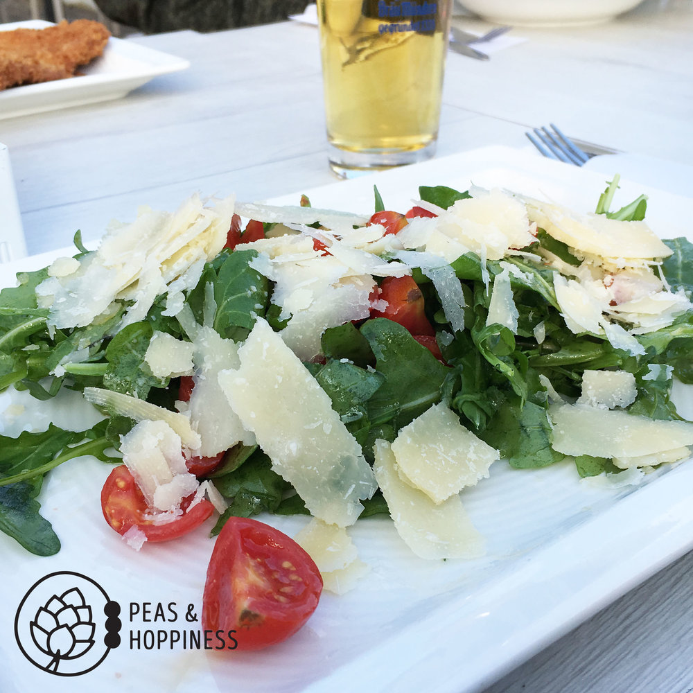 Low-carb meal at a restaurant in Germany - proving you *can* eat keto wherever you go, as long as you're creative! Swap the beer in the background for a gin and diet tonic for a true keto-friendly meal