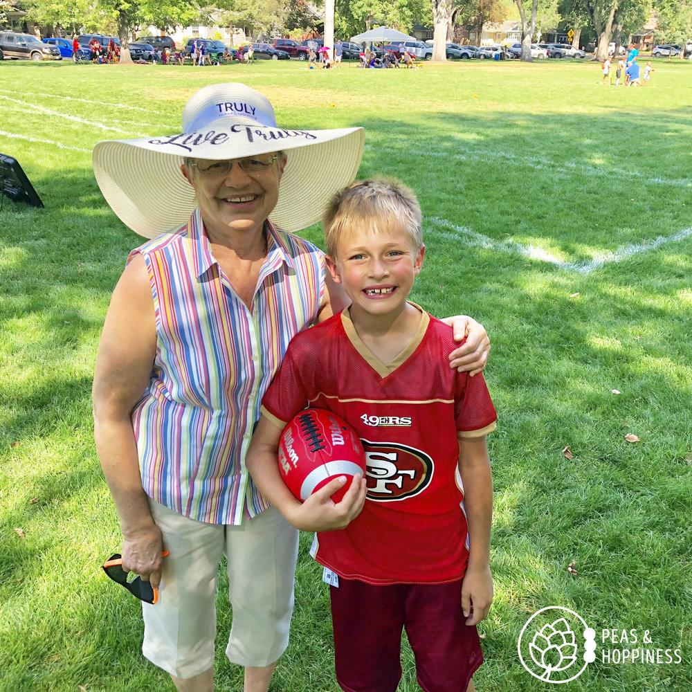 Flag football with Grammy <3