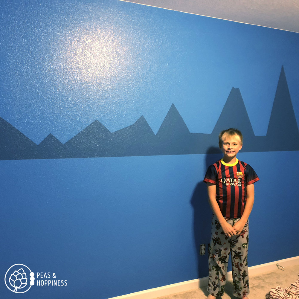 Some weekends we spend playing golf and rock climbing. And some weekends we spend painting a 9-year-old's bedroom. It's all beautiful, especially when he smiles.