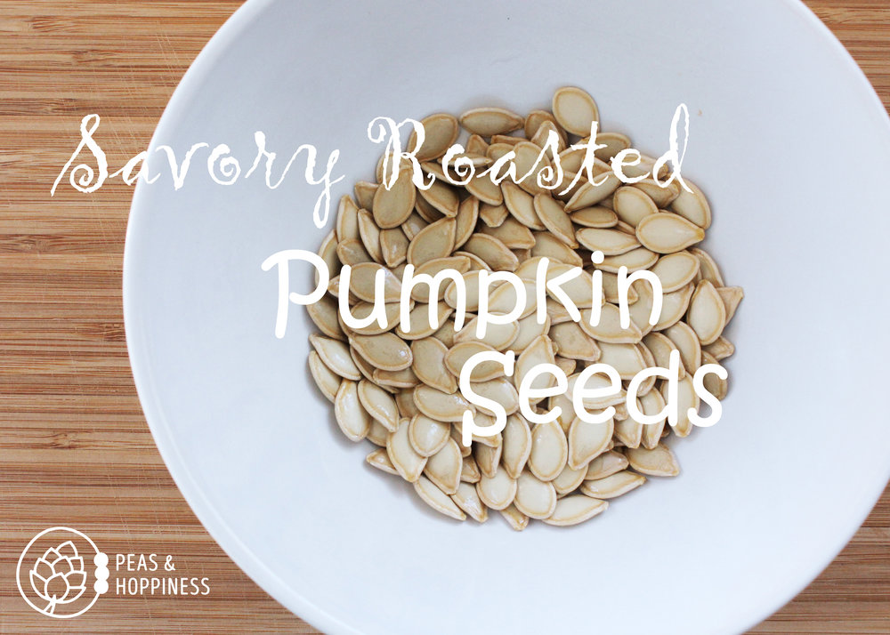 Savory Roasted Pumpkin Seeds from Peas and Hoppiness - www.peasandhoppiness.com