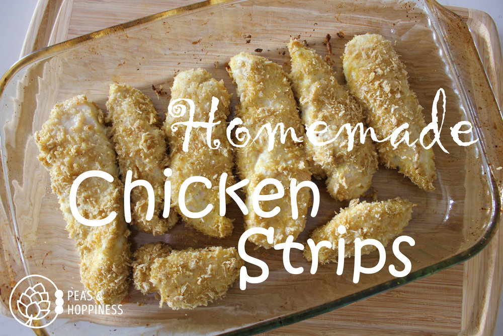 Homemade Chicken Strips from Peas and Hoppiness - www.peasandhoppiness.com