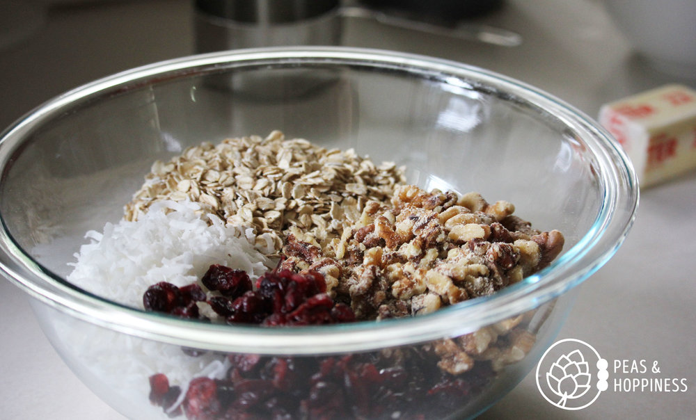Wholesome, healthy, and alkaline:  Easy Coconut Cranberry Granola