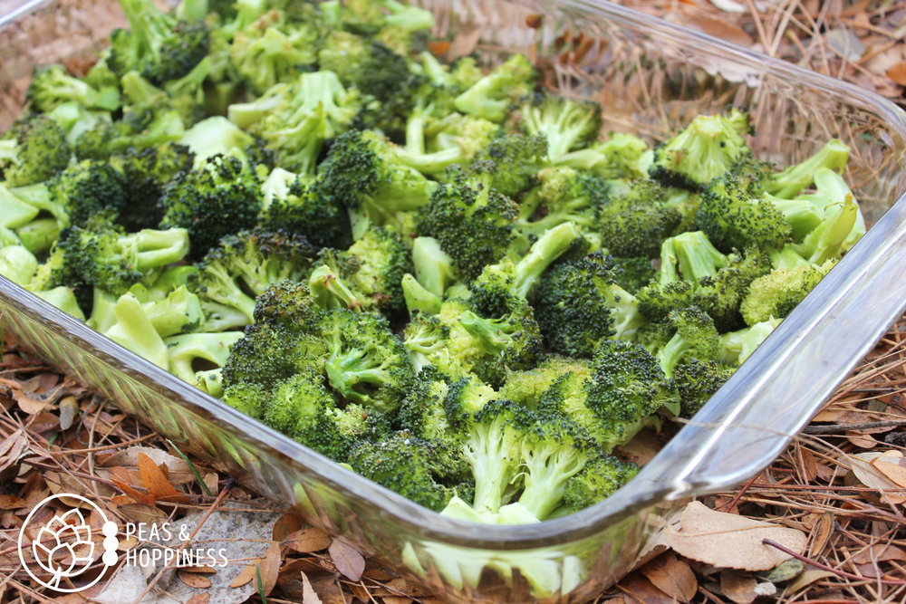 If you look carefully you can see some of the Maillard browning which took place at the tips of these broccoli florets in this  Crowd-Pleasing Roasted Broccoli