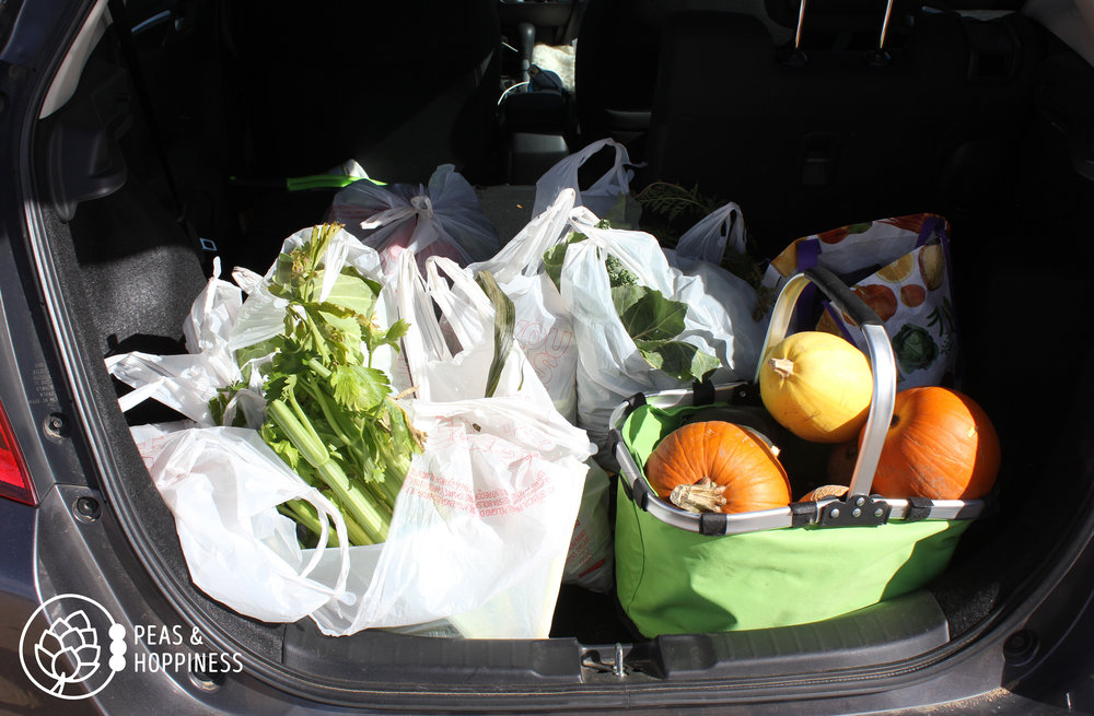 A carload of veggies from last year's  Fall Harvest Festival !