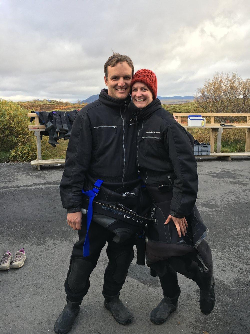Snorkeling the Silfra Fissure, Iceland, October 2017