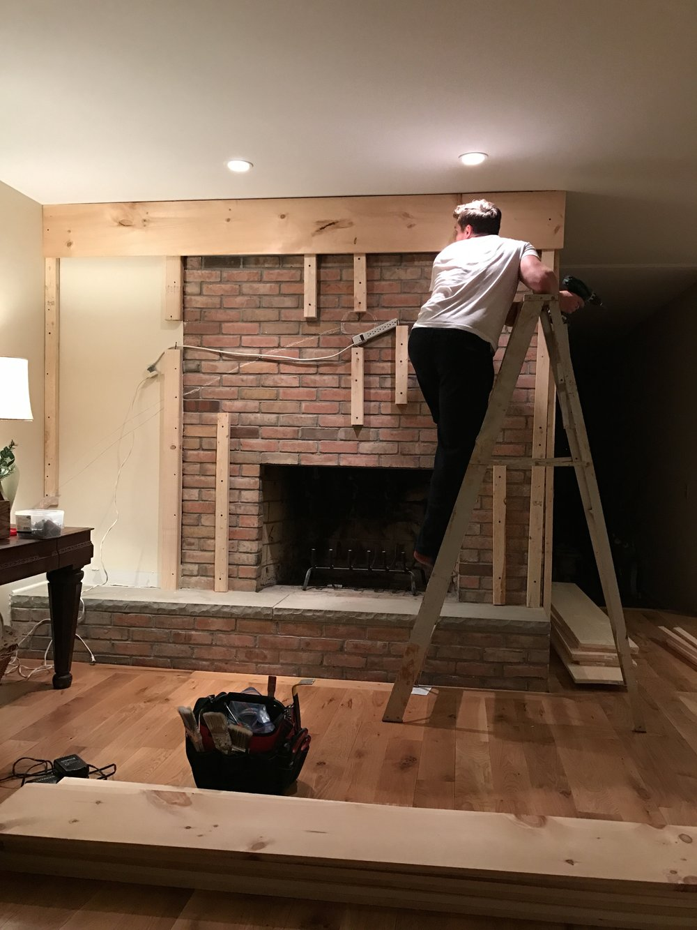 fireplace before and after u2014 the birchwood blog