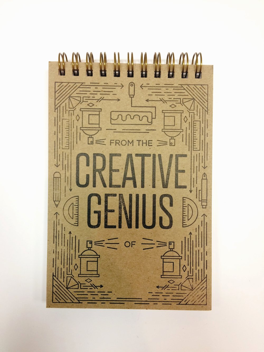 Creative Genius notebook, $12