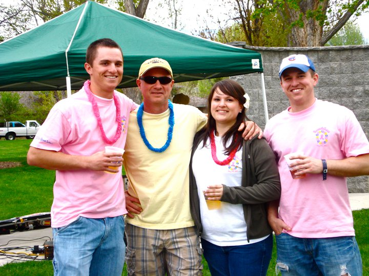 From left to right: Sam, Gary, Stephanie, and Pete Richter