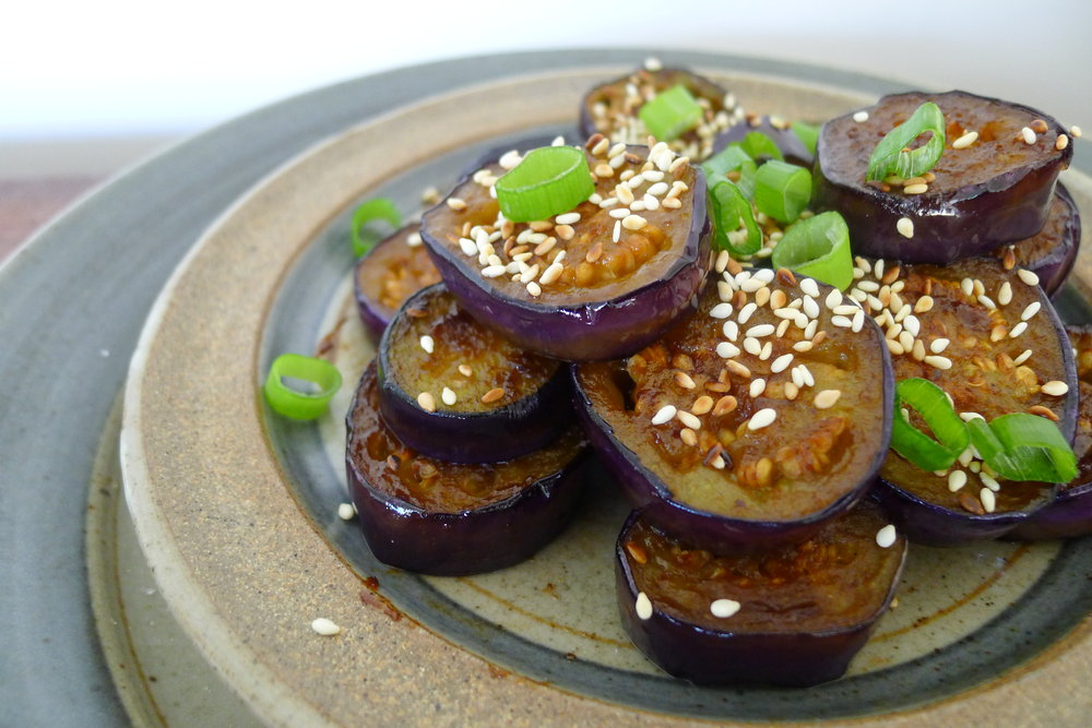 Sticky, Sweet + Salty Maple + Miso Eggplant - 15 mins from go to woah!