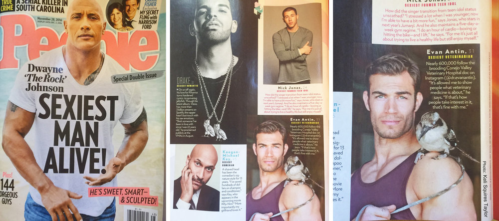 November 2016 / PEOPLE Magazine - Sexiest Man Alive issue Photo of Evan Antin by Keli Squires Taylor -