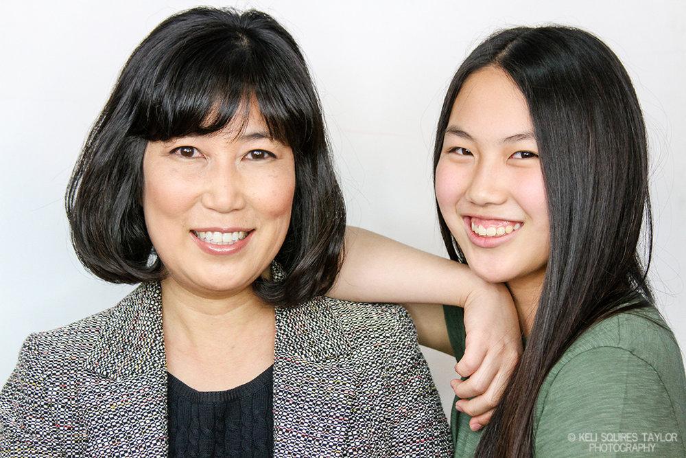 Portrait of Mom & daughter Sarah & Katie Song