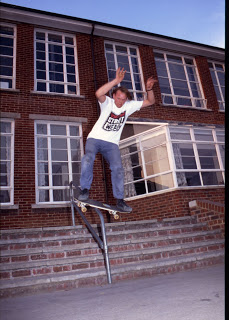 Don B at 'Handrail Land', Southampton, late 80's; photo: Abbott