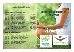 Donation Weekend Program