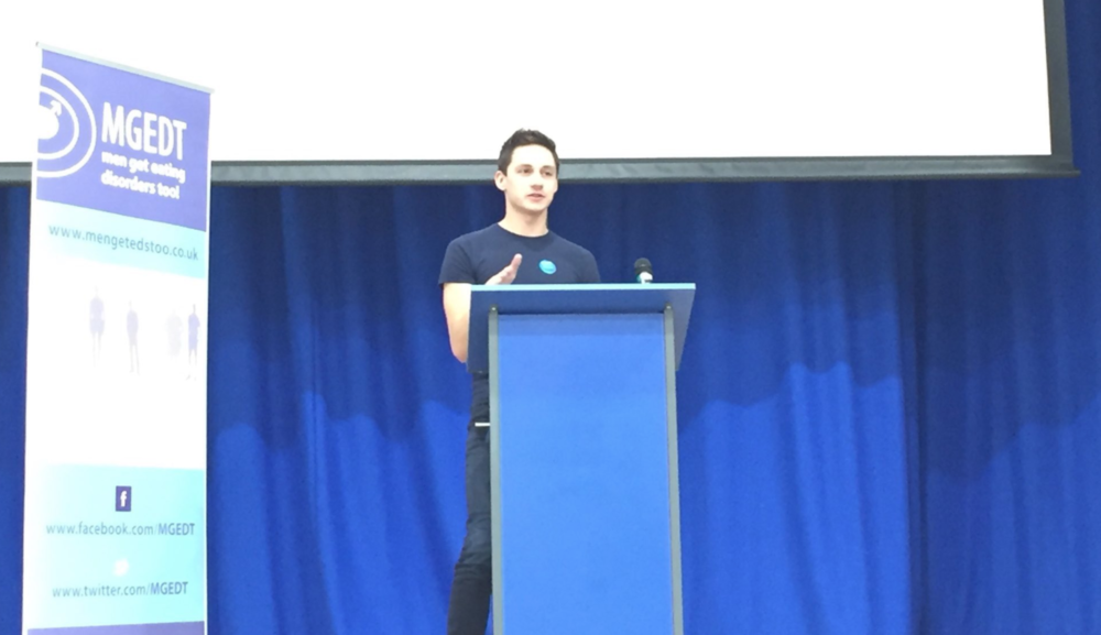 James presenting at a National eating disorders conference in Brighton earlier this month